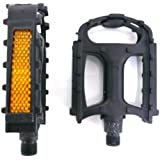 """Pair of Black Plastic Resin 9/16"""" Bike Pedals (Fit Most Adult Bikes Mountain Road and Hybrid Bicycles)"""
