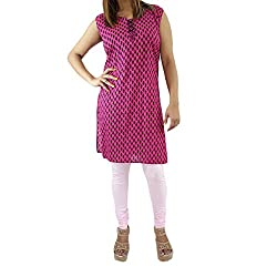 ShopMore Printed Kurta(Large_Pink)