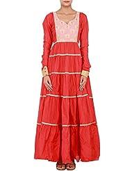 Kalki Fashion Red Kurti Featuring In Chanderi Silk Only On Kalki Size- Large