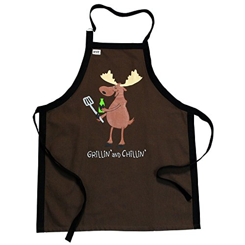 Lazy One Men'S Grillin N Chillin BBQ Apron One Size Brown