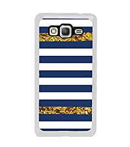 Blue and White Line Pattern 2D Hard Polycarbonate Designer Back Case Cover for Samsung Galaxy Grand Prime :: Samsung Galaxy Grand Prime Duos :: Samsung Galaxy Grand Prime G530F G530FZ G530Y G530H G530FZ/DS