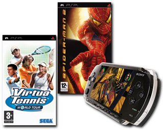 Console Bundle (Inc: PSP Value Pack, Virtua Tennis World Tour, Spiderman 2) (PSP)