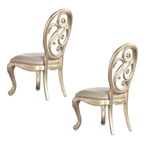 Splat back side chair silver leaf discount dining room chairs sale
