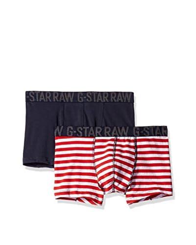 G-STAR RAW Pack x 2 Bóxers Rojo / Azul