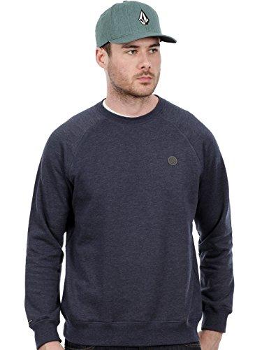 Volcom Pulli Crew Fleece Sweater Small Vintage Navy