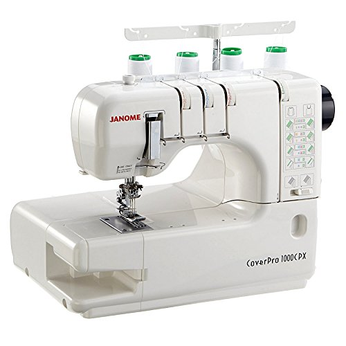 Janome Cover Pro 1000CPX Cover Stitch Machine and Kit (Color: White)