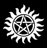 Supernatural Anti-Possession Seal Vinyl Die Cut Decal Sticker 5&quot; White