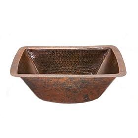 "Premier Rectangle Copper Prep Sink W/ 3.5"" Drain Size BRECDB3"