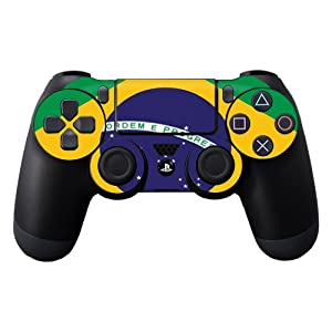 Protective Vinyl Skin Decal Cover for Sony PlayStation DualShock 4 Controller Sticker Skins Brazilian Flag