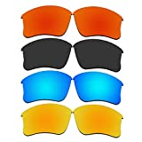 4 Pair Replacement Lenses for Oakley Flak Jacket XLJ Sunglasses With Polarized Pack P9-1