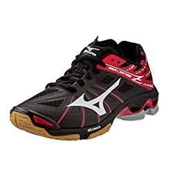 Mizuno Wave Lightning Z Women\'s Volleyball Shoes - Black & Red (Women\'s 13)