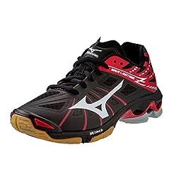 Mizuno Wave Lightning Z Women\'s Volleyball Shoes - Black & Red (Women\'s 13)