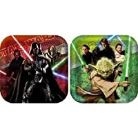 Star Wars Party Plates - Star Wars Square Dinner Plates from Hallmark