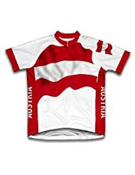Austria Flag Short Sleeve Cycling Jersey for Women