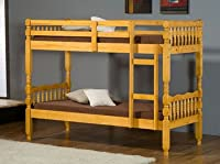Milano Single 3'0 Ft Pine Bunk Bed (With 2 Single oxford Mattresses)