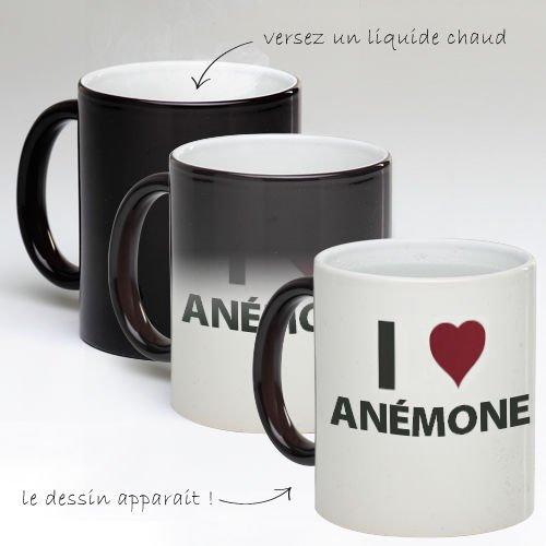 Tasse Mug Magique Personnalise I Love Anémone