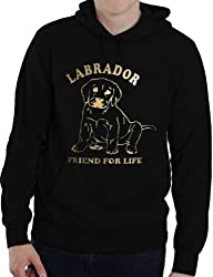 Labrador ~Dog Lover Adult Hoodie~ In Gold Glitter ~ In 6 Colours! ~ Size S-XXL
