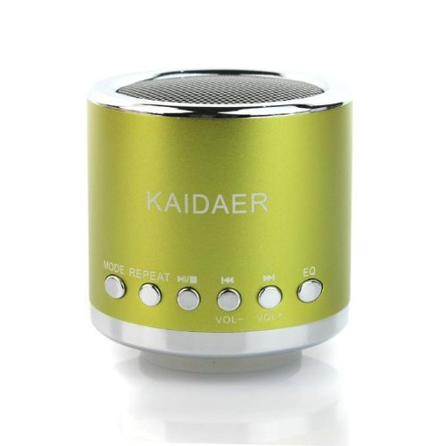 Kd-Mn02 Multi-Functional Super Mini Audio Speaker Amplifier With Tf/ Usb Slot For Pc Mobile Phone Mp3 Player Green