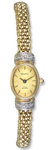Geneve Mini 14k Solid Gold Diamond Womens Watch W080831