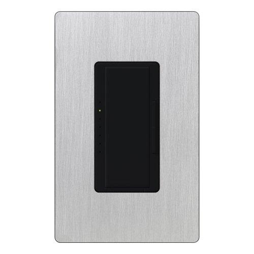 Lutron Ma-600Hw-Blss Maestro 600 Watt Single-Pole Dimmer, Black/Stainless Steel
