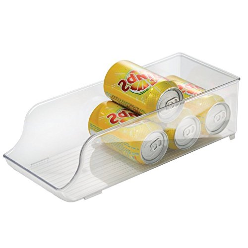 Soda Can Storage Bin | Food Container or Storage | Refrigerator, Freezer or Cabinet | each Bin - 13.5 x 5.5 x 4 inches (Clear Soda Can compare prices)