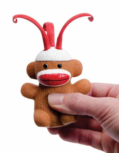 Sock Monkey CURLY POP SOCK MONKEY