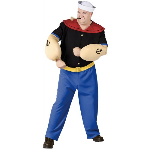 Popeye Men'S Costume- Plus Size