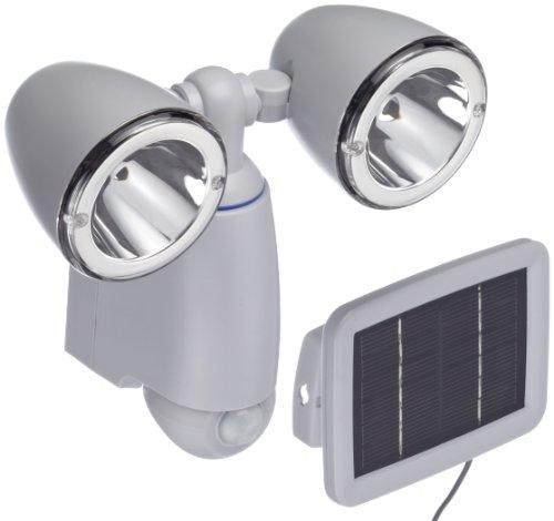SunnyTrend SLA14 Solar-Wand-Doppelstrahler mit Bewegungsmelder