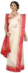 SHRI BALAJI SILK & COTTON SAREE EMPORIUM Women's Tassar Silk Saree (1(2))