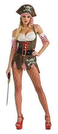 Secret Wishes Women's Pirate Queen Adult Costume Mini Dress, Multicolor, X-Small