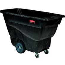 "Rubbermaid Commercial Polyethylene Box Cart, Black, 450 lbs Load Capacity, 33-7/8"" Height, 57-1/8"" Length x 26-7/8"" Width"