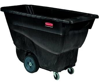 Rubbermaid Polyethylene Box Cart, Black