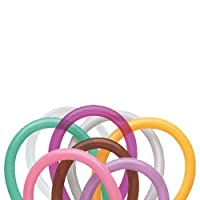 Qualatex 260 Entertainer Balloons (250 Ct) - Mocha Brown, Wintergreen, Tropical Teal, Goldenrod, Rose, Spring Lilac, Gray, Jewel Magenta and Diamond Clear from Qualatex