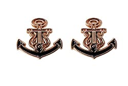 OutDazzle Designer Anchor Lapel Collar/Stud Pin for Men- Set of 2