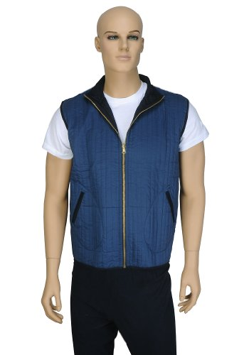 Designer Indian Pretty Look Light Weight Reversible Mens Short Quilted Jacket Size XL