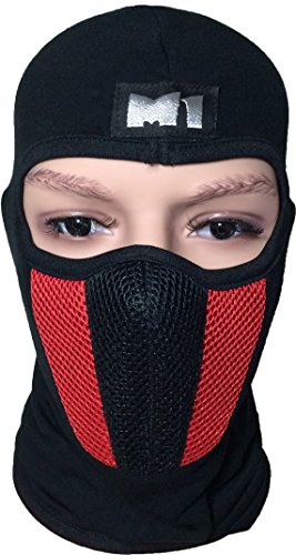 M1-Full-Face-Cover-Balaclava-Protection-Filter-Plain-Mask-Red-BALA-FILT-RED