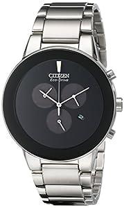 Citizen Men's AT2240-51E Axiom Analog Display Japanese Quartz Silver Watch