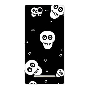 Stylish Skull Star Back Case Cover for Sony Xperia C3