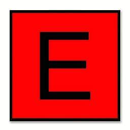 Alphabet E Red Canvas Print Black Frame Kids Bedroom Wall Décor Home Art
