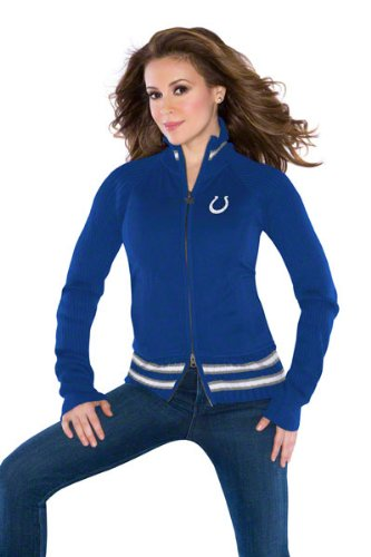 Indianapolis Colts Women's Full-Zip Sweater Mix Jacket - by Alyssa Milano at Amazon.com