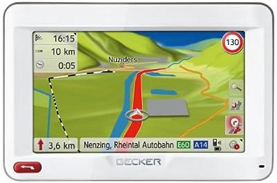 Becker Ready 45 ICE Navigationsgerät (4,3'' (10,9 cm) Display, reflektionsarmer Touchscreen, 44 Länder vorinstalliert, Fahrspurassistent Pro 3D, SituationScan, Freisprecheinrichtung) weiß von Becker - Reifen Onlineshop