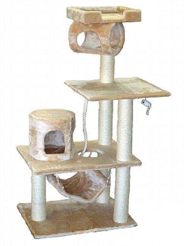 Go Pet Club Cat Tree Condo House, 36W x 20L x 62H, Beige