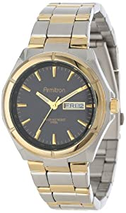 Armitron Men's 204686BKTT Two-Tone Stainless-Steel and Black Dial Dress Watch
