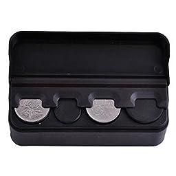 Black Coin Holder Case Car Coin Organizer