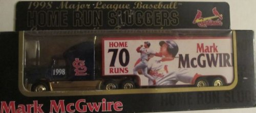 St. Louis Cardinals Mlb Diecast 1998 Tractor Trailer 1:87 Scale Mark Mcgwire Home Run Sluggers Transporter