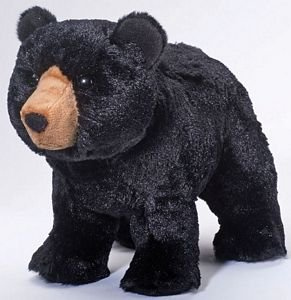 "Orso Black Bear - 11"" Bear By Douglas Cuddle Toy"
