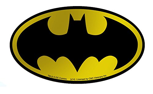 Licenses Products DC Comics Batman Logo Gold Foil Sticker