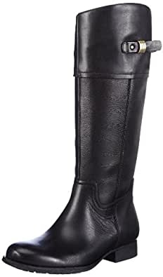 Clarks Mimic Dance 20355469, Damen Stiefel, Schwarz (Black Leather), EU 39.5