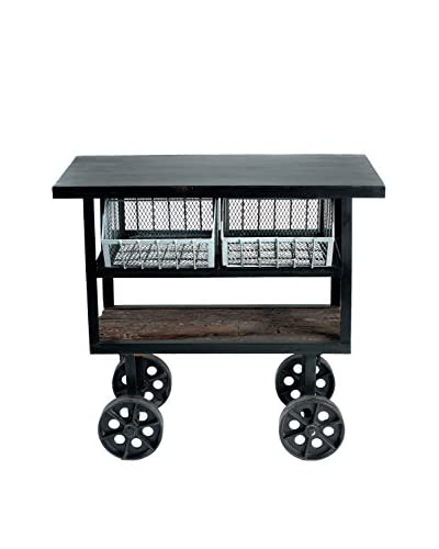 Rolling Peddler's Console, Brown