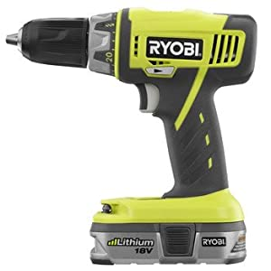 Factory-Reconditioned Ryobi ZRP815 ONE Plus 18V Cordless Compact Drill Kit